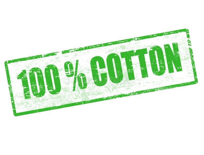 Selo 100% do algodão ilustração stock