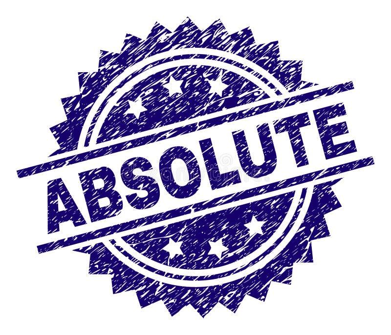 Selo ABSOLUTO Textured do selo do Grunge ilustração royalty free