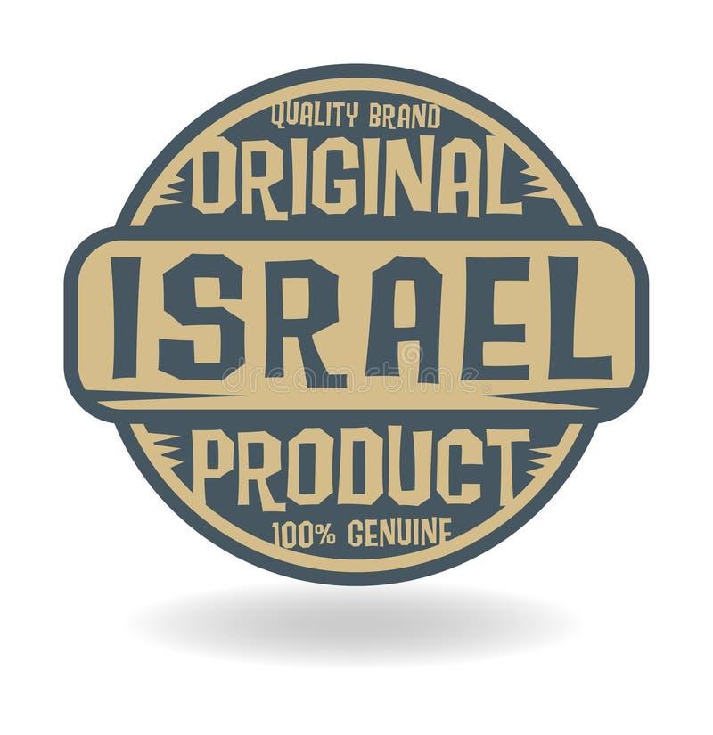 Selo abstrato com o produto original do texto de Israel ilustração royalty free