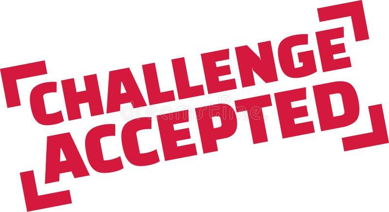 Selo aceitado desafio ilustração stock