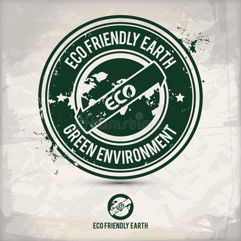 Selo alternativo da terra do eco ilustração do vetor
