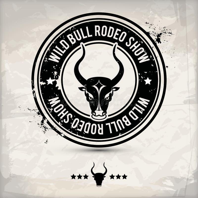 Selo alternativo do touro ilustração do vetor