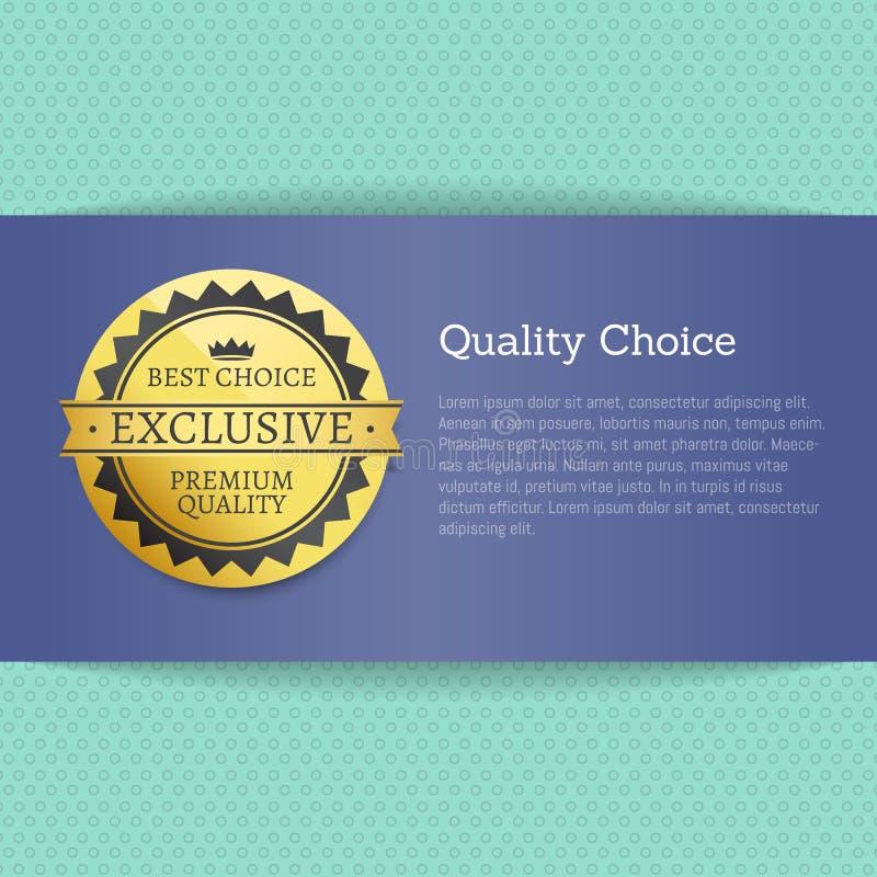 Selo alto bem escolhido da concessão da qualidade etiqueta dourada do melhor ilustração royalty free