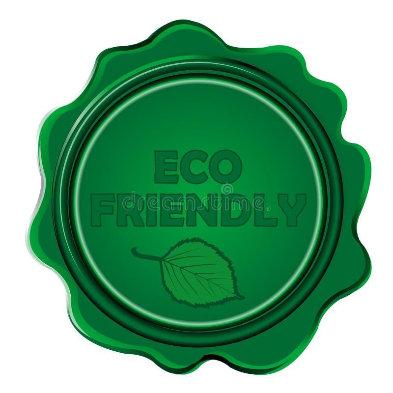 Selo amigável da cera de Eco ilustração do vetor