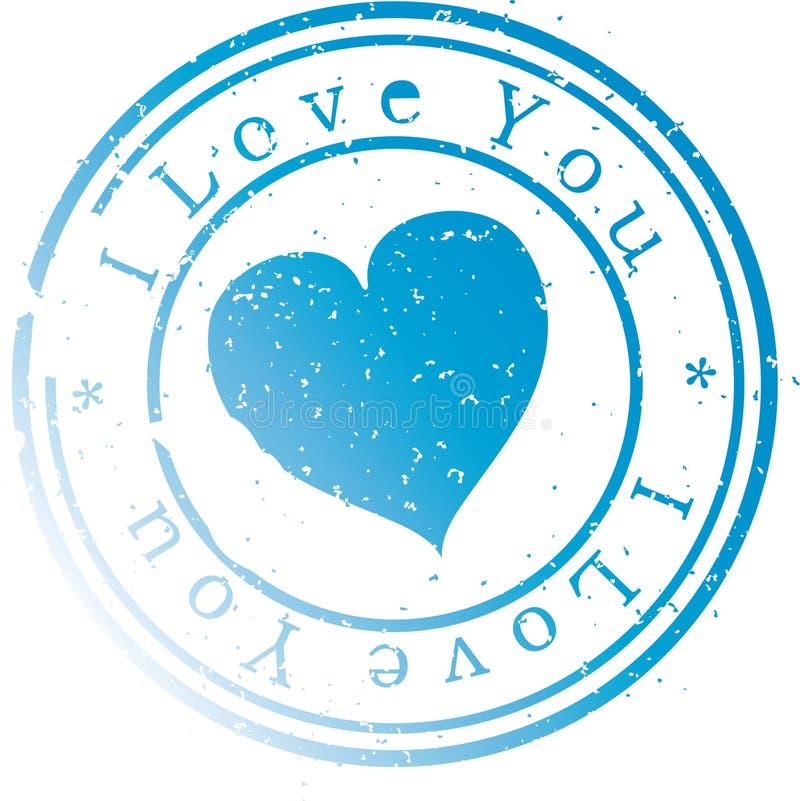 Selo - amor de I você. ilustração do vetor