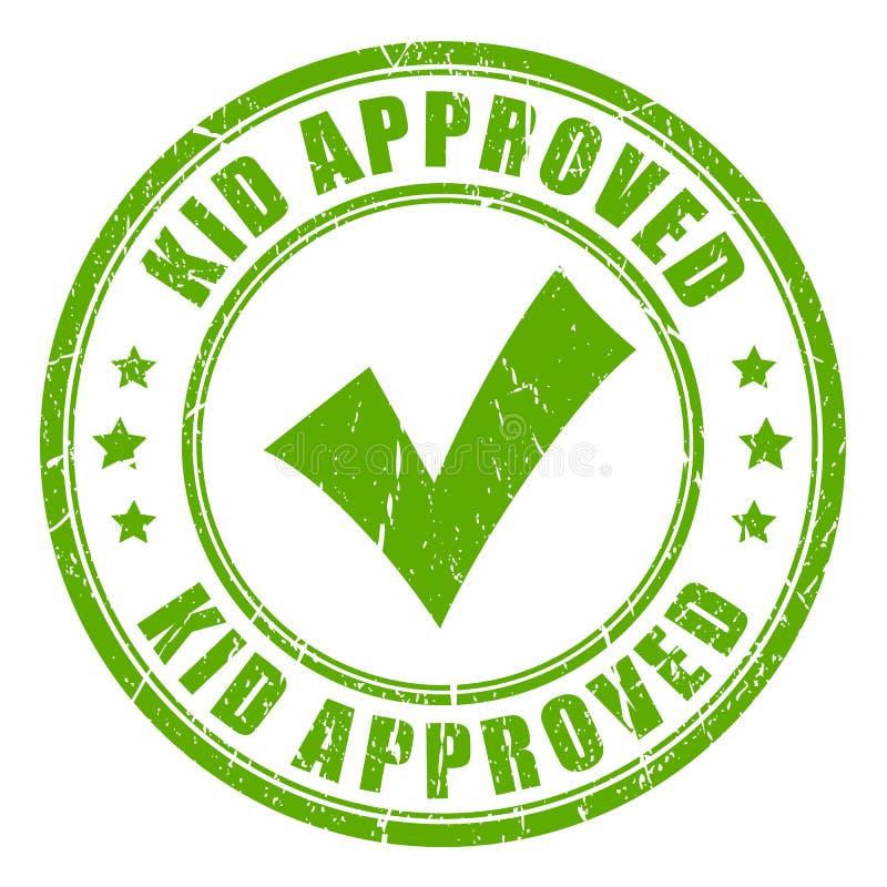 Selo aprovado criança do vetor ilustração do vetor
