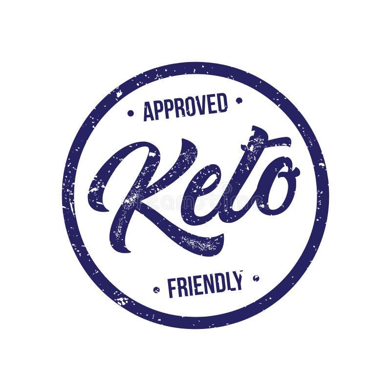Selo aprovado do produto da dieta Ketogenic ilustração do vetor