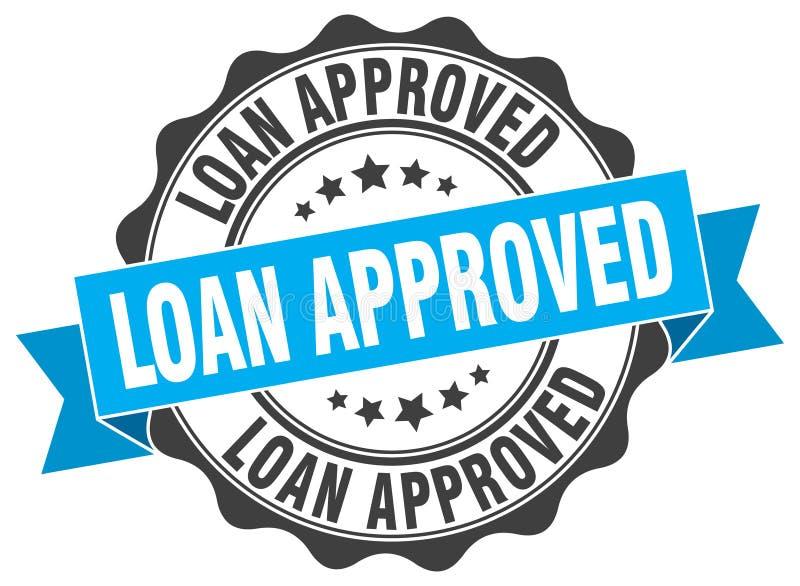Selo aprovado empréstimo ilustração stock