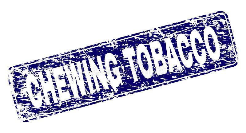 Selo arredondado quadro do retângulo do CIGARRO de MASTIGAÇÃO do Grunge ilustração royalty free