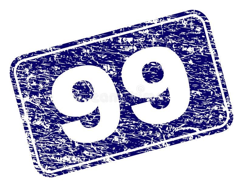 Selo arredondado quadro do retângulo do Grunge 99 ilustração do vetor