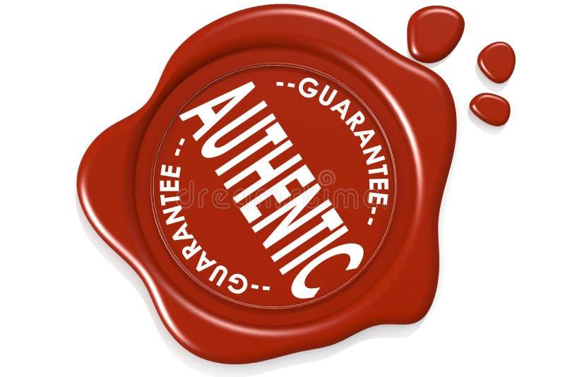 Selo autêntico da garantia da etiqueta da qualidade de produto ilustração do vetor
