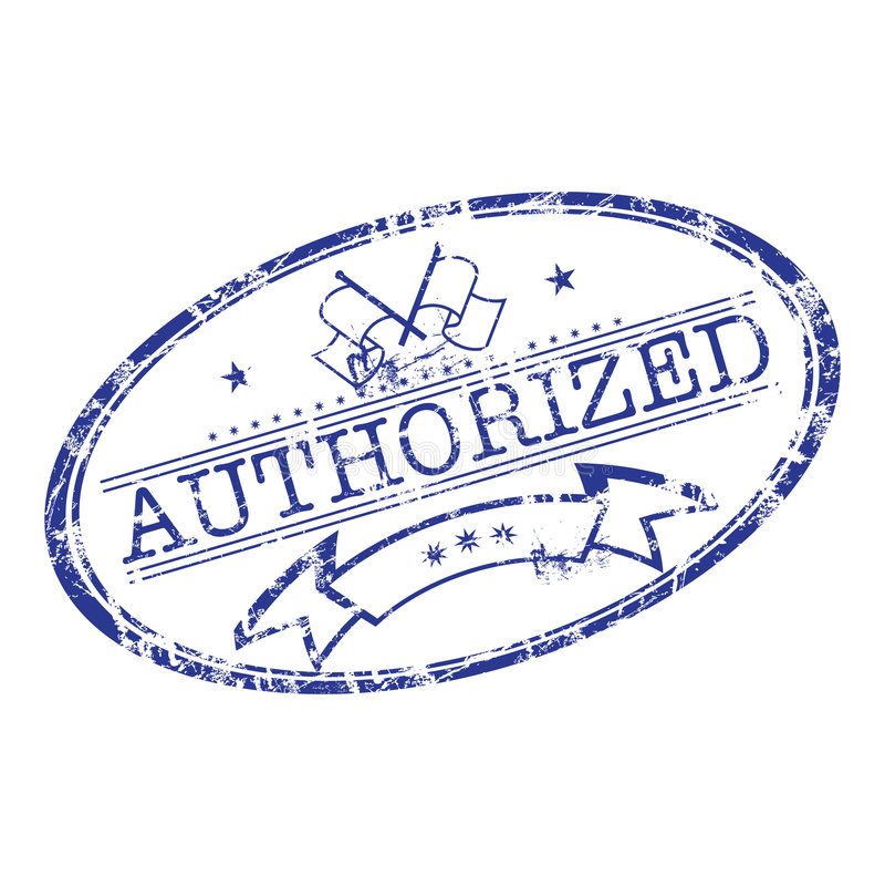 Selo autorizado ilustração do vetor