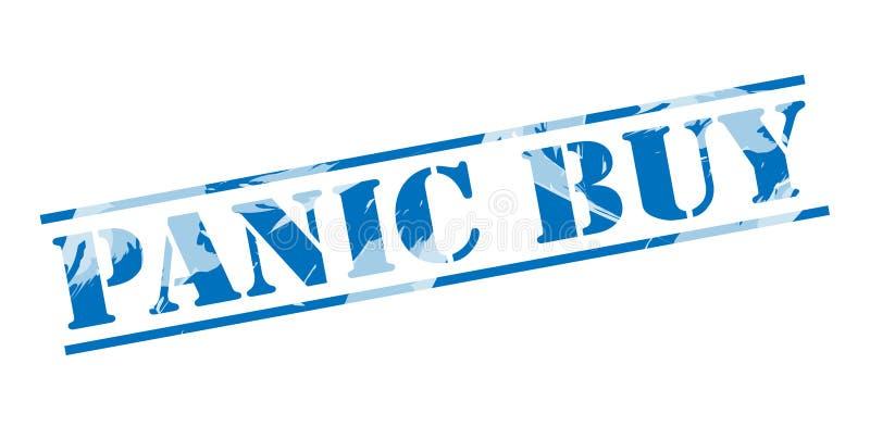 Selo azul da compra do pânico ilustração royalty free