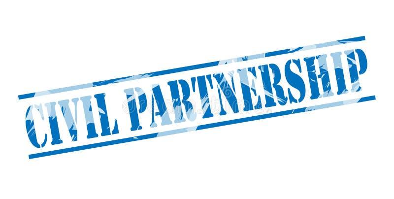 Selo azul da parceria civil ilustração do vetor