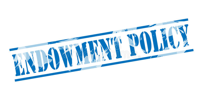 Selo azul da política da doação ilustração royalty free