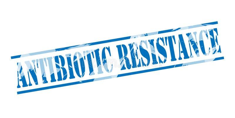 Selo azul da resistência antibiótica ilustração stock