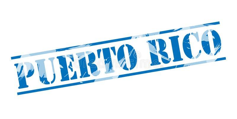 Selo azul de Porto Rico ilustração stock