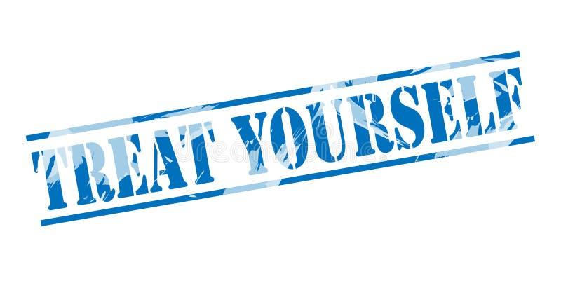 Selo azul do deleite você mesmo ilustração do vetor