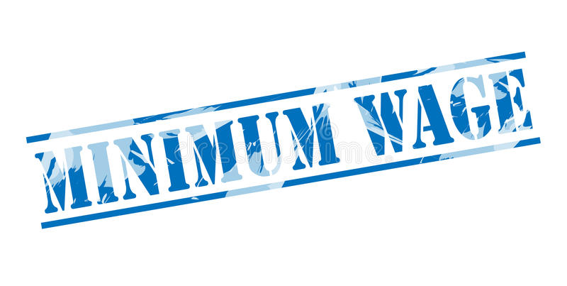 Selo azul do salário mínimo ilustração do vetor