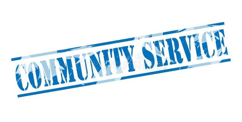 Selo azul do serviço comunitário ilustração do vetor
