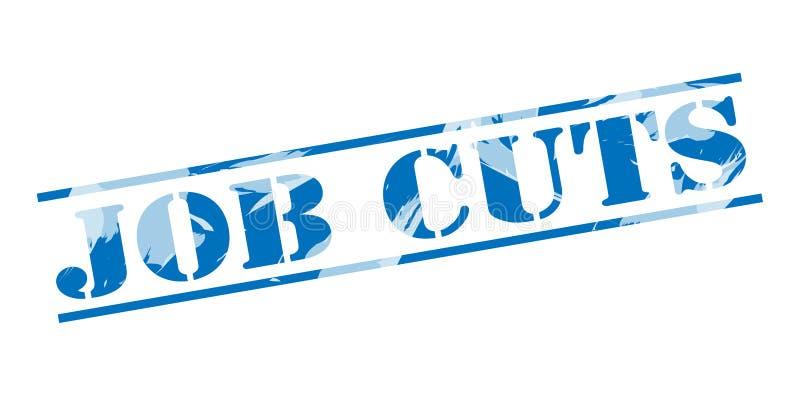 Selo azul dos cortes de empregos ilustração royalty free