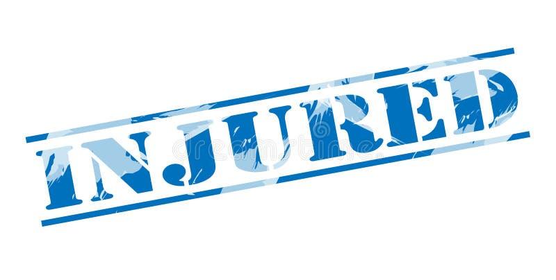 Selo azul ferido ilustração royalty free