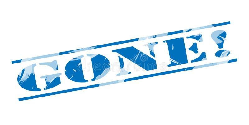 Selo azul ido ilustração royalty free