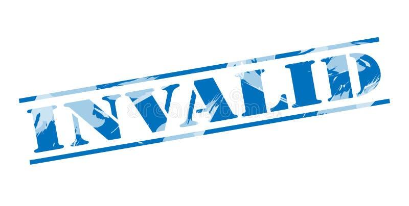 Selo azul inválido ilustração stock