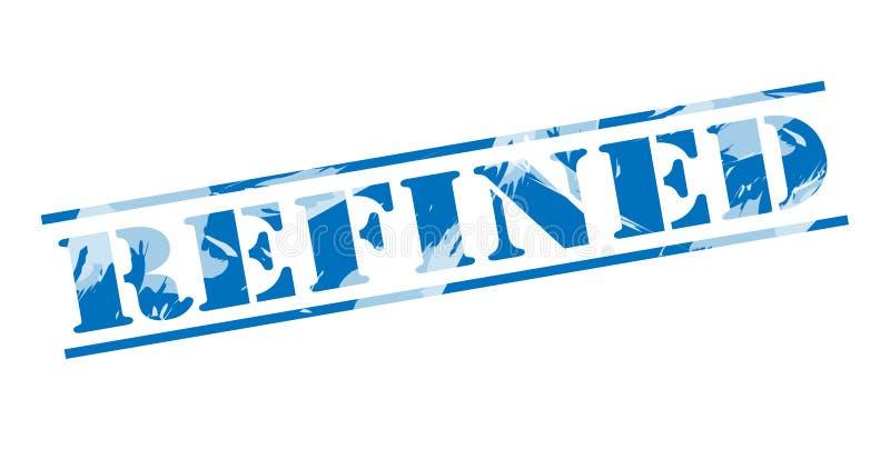 Selo azul refinado ilustração stock