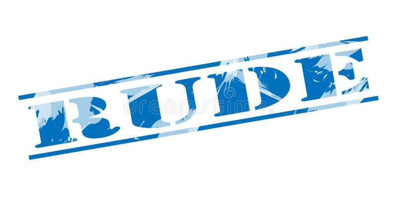 Selo azul rude ilustração stock