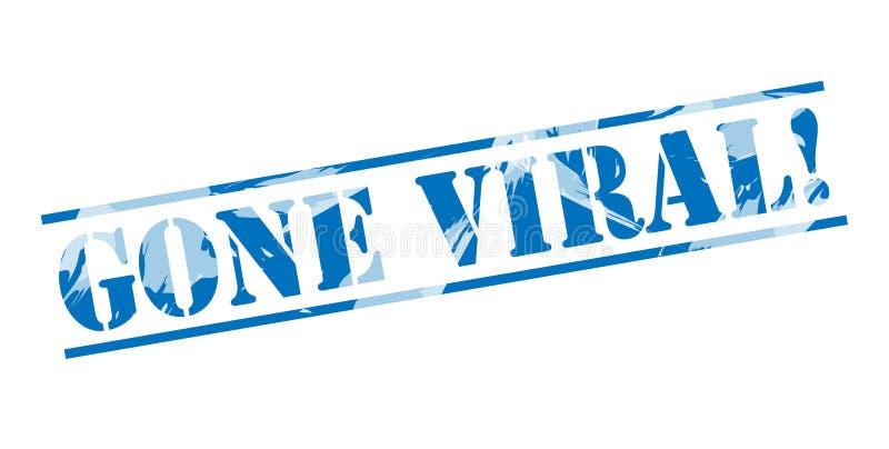Selo azul viral ido ilustração royalty free