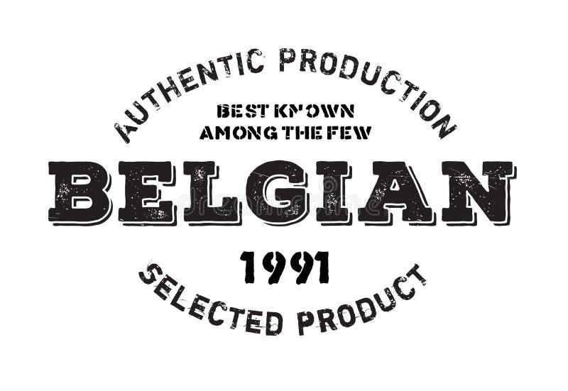 Selo belga autêntico do produto ilustração stock