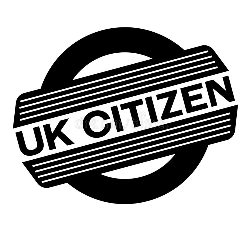 Selo britânico do preto do cidadão ilustração do vetor