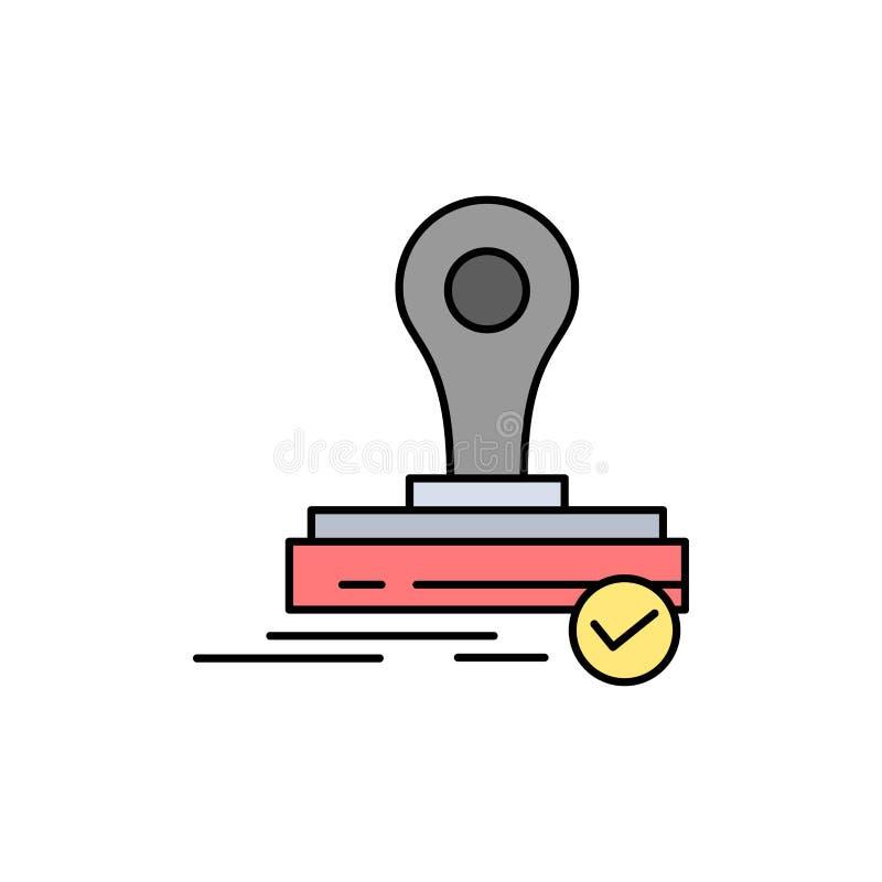 Selo, clone, imprensa, Logo Flat Color Icon Molde da bandeira do ícone do vetor ilustração do vetor