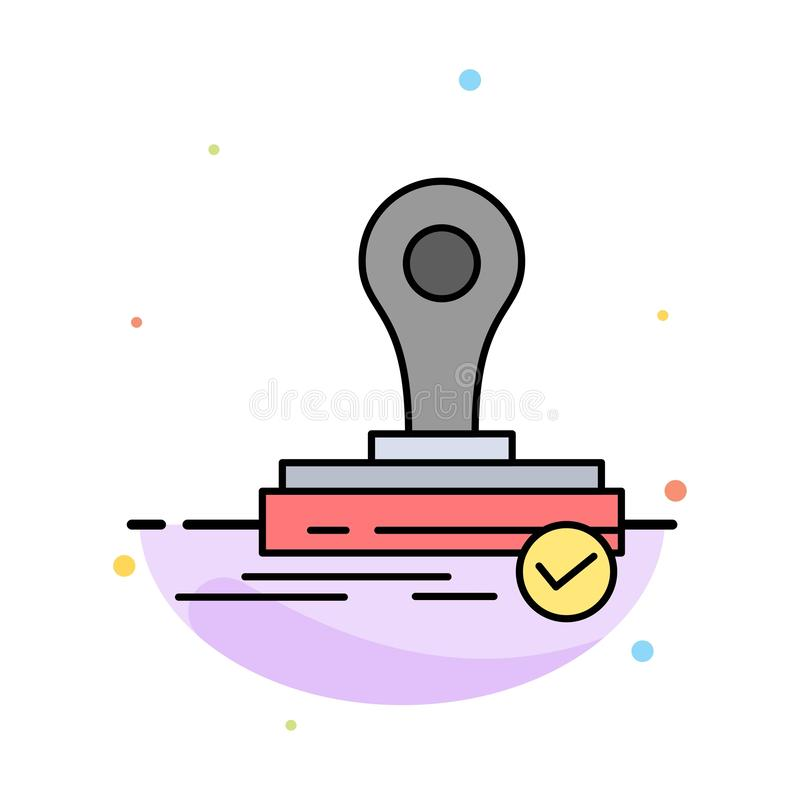 Selo, clone, imprensa, molde de Logo Abstract Flat Color Icon ilustração stock