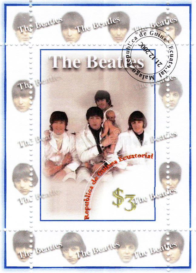 Selo com Beatles imagem de stock royalty free