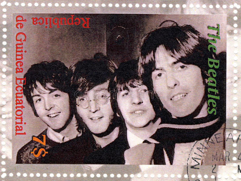 Selo com Beatles fotos de stock royalty free