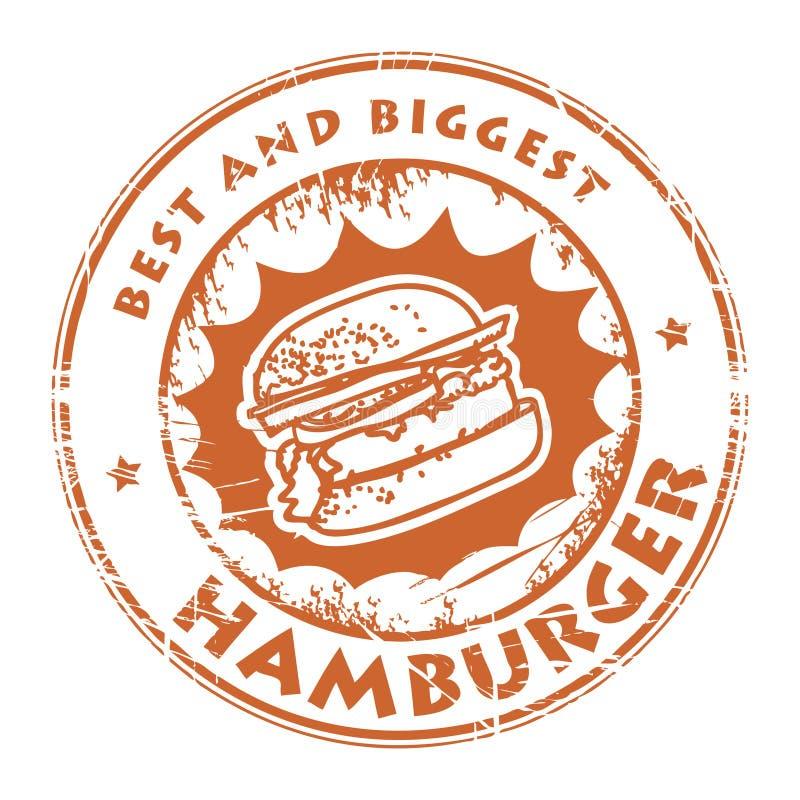 Selo com Hamburger ilustração royalty free