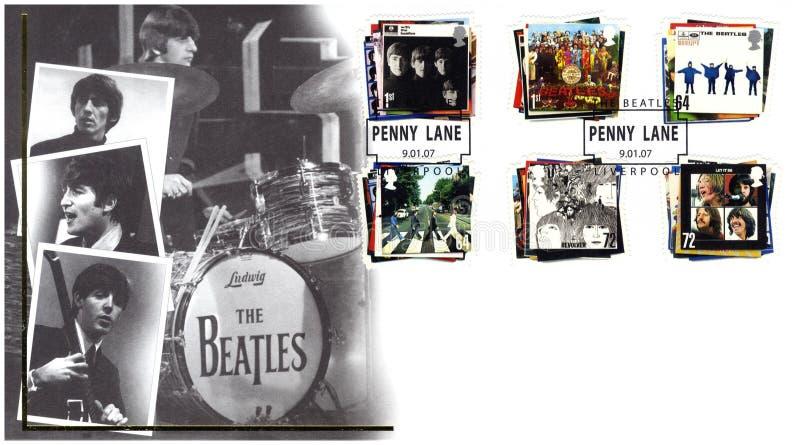 Selo com o Beatles ilustração do vetor