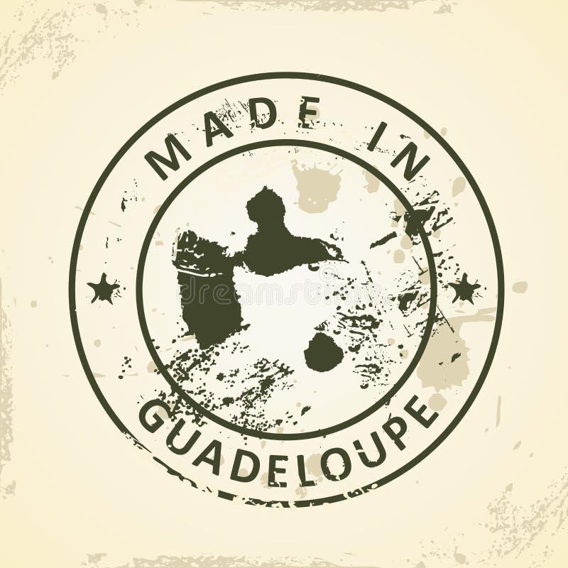 Selo com o mapa de Guadalupe ilustração do vetor