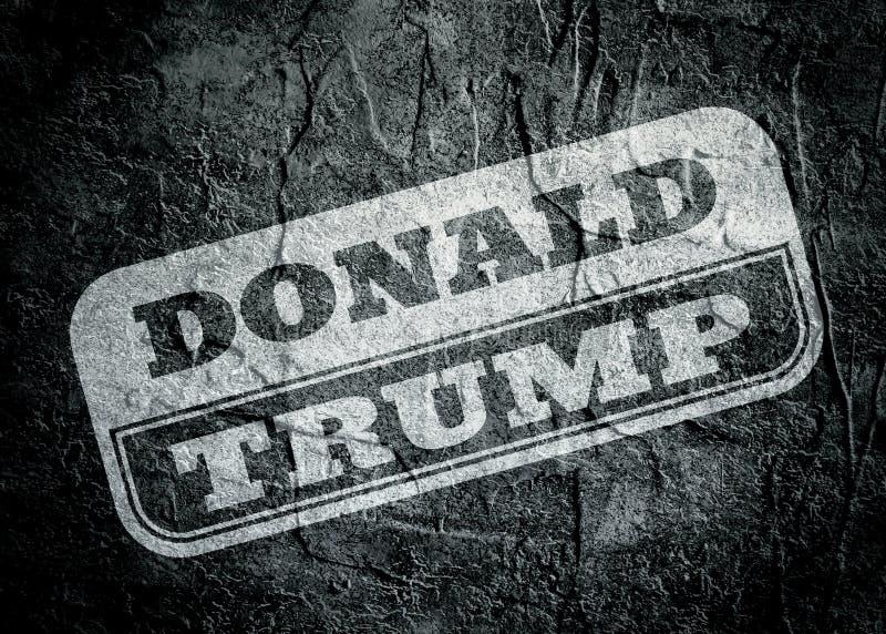 Selo com texto de Donald Trump sobre o fundo do grunge ilustração do vetor