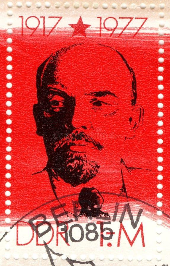 Selo com Vladimir Lenin imagens de stock royalty free