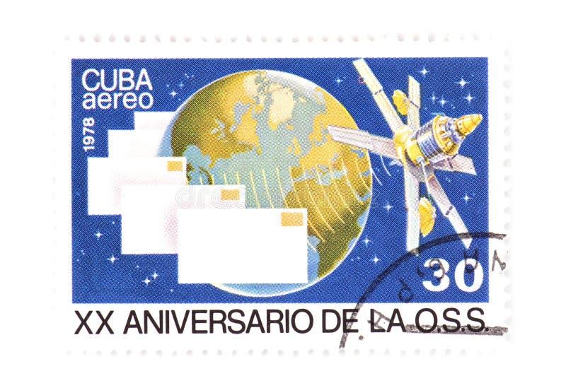 Selo cubano no branco imagem de stock