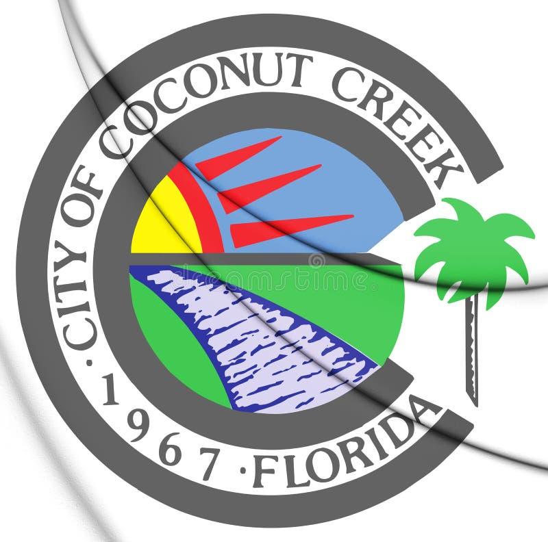 selo 3D de Coconut Creek Florida, EUA ilustração royalty free