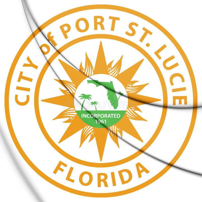 selo 3D de St portuário Lucie Florida, EUA ilustração royalty free