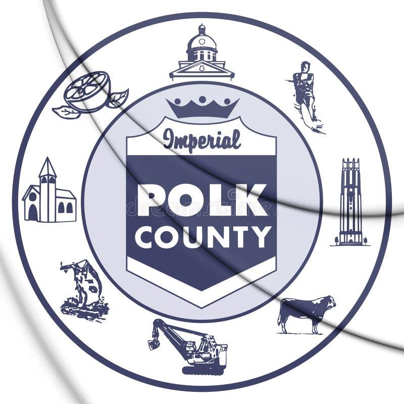 selo 3D do Condado de Polk Florida, EUA ilustração do vetor