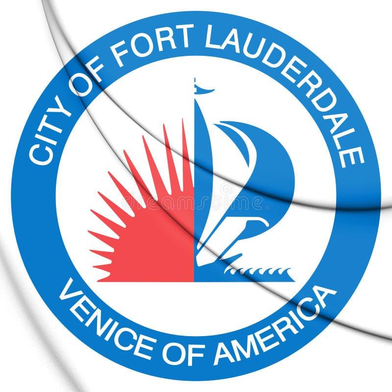 selo 3D do Fort Lauderdale Florida, EUA ilustração royalty free