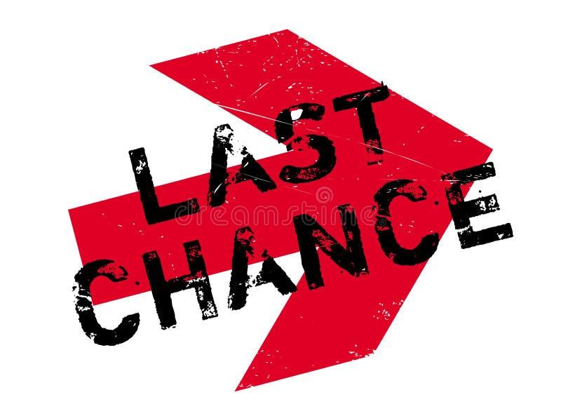 Selo da última oportunidade ilustração stock