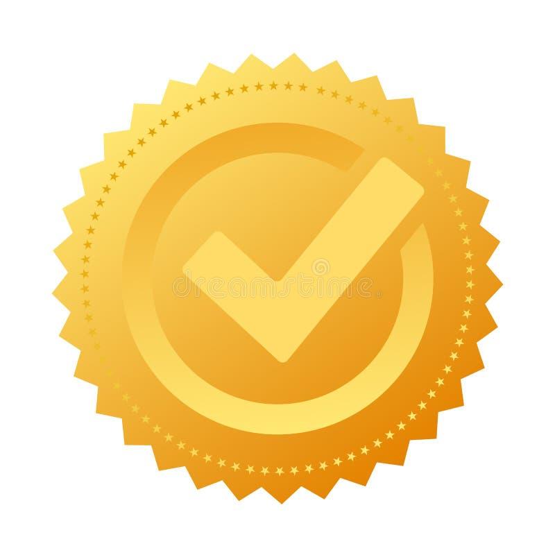 Selo da aprovação do notário do ouro ilustração royalty free