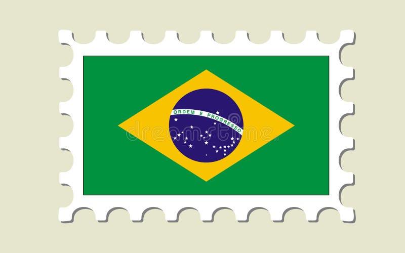 Selo da bandeira de Brasil ilustração stock